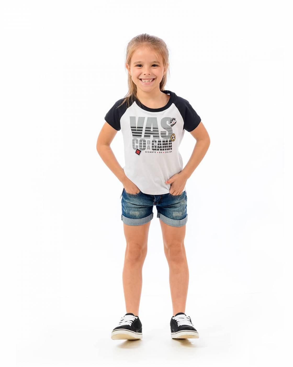 Camisa infantil feminina Vasco School