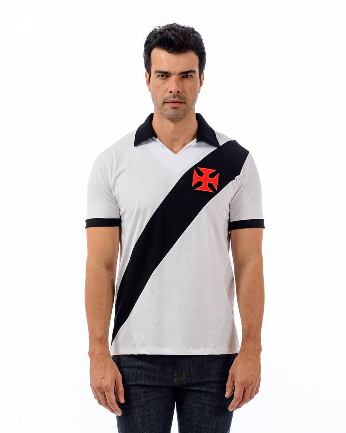 Camisa Polo Vasco Paris - Branca