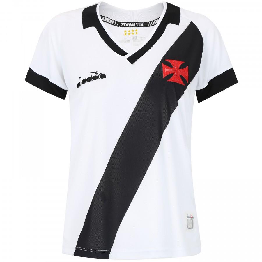 Camisa Vasco 2 torcedor feminina 2019 Diadora