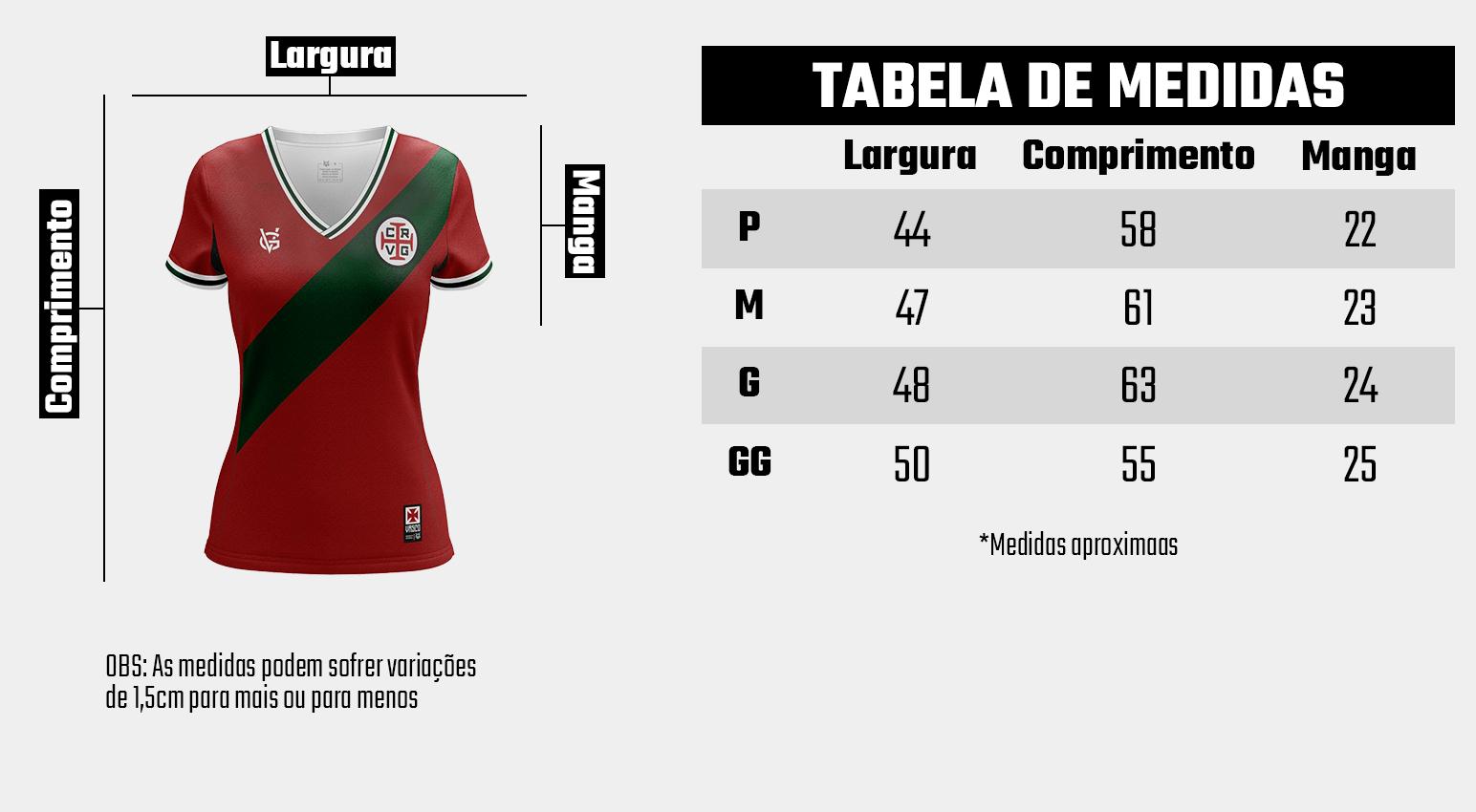 Camisa Vasco Feminina Dry Portugal - VG