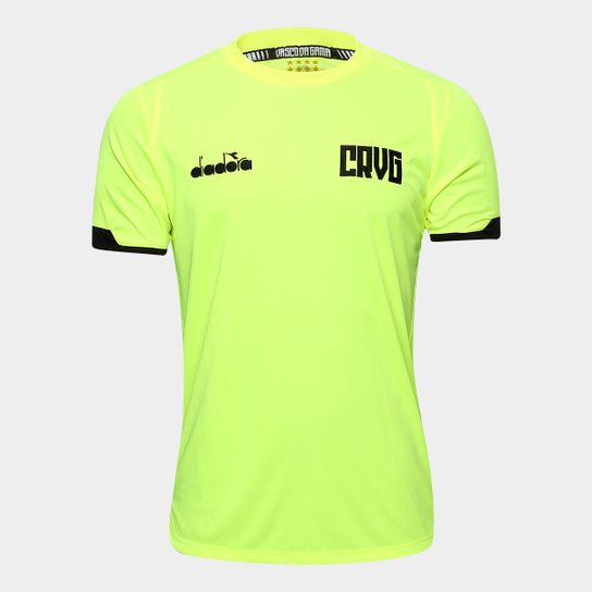 Camisa Vasco feminina goleiro treino 2019 Diadora - Amarelo