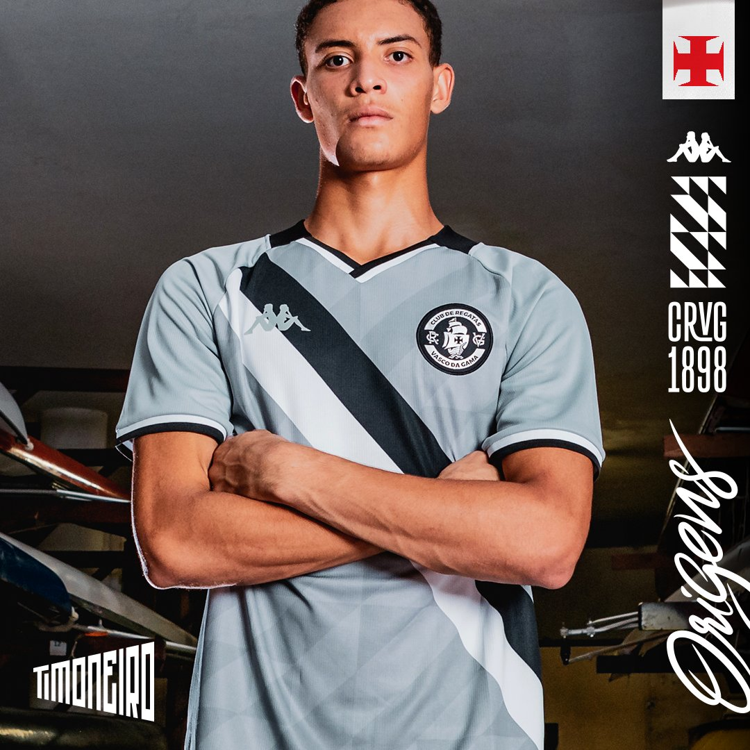 Camisa Vasco Timoneiro Goleiro OF 3RD Infantil Kappa 2021