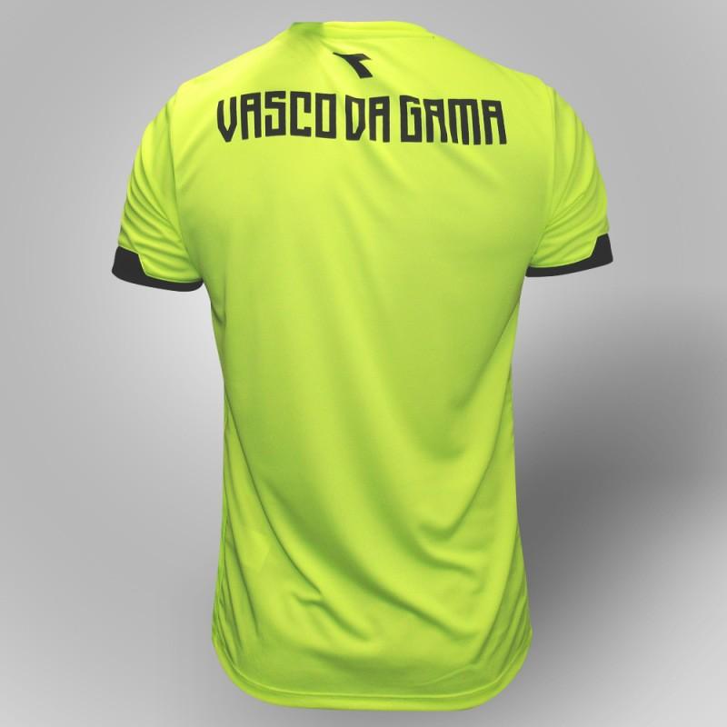 Camisa Vasco goleiro treino juvenil 2019 Diadora - Amarelo