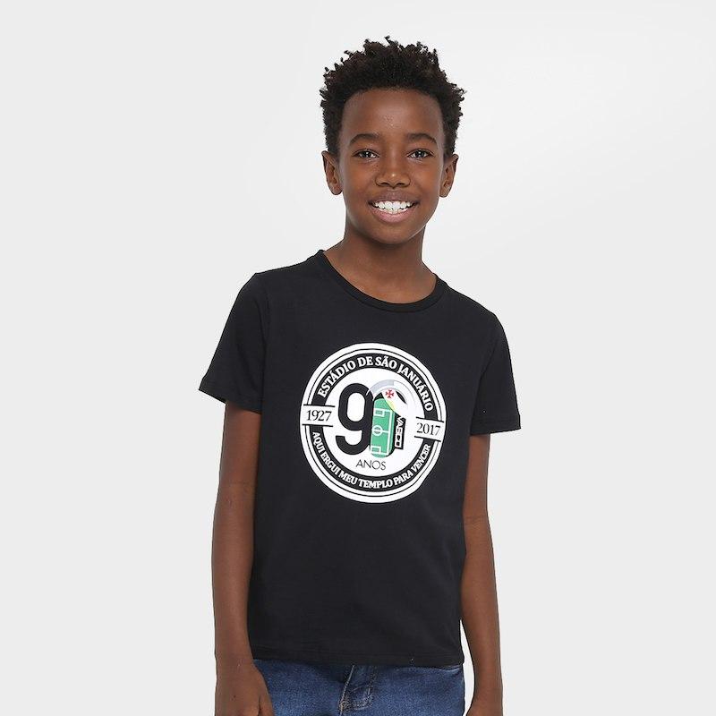 Camisa Vasco infantil 90 anos
