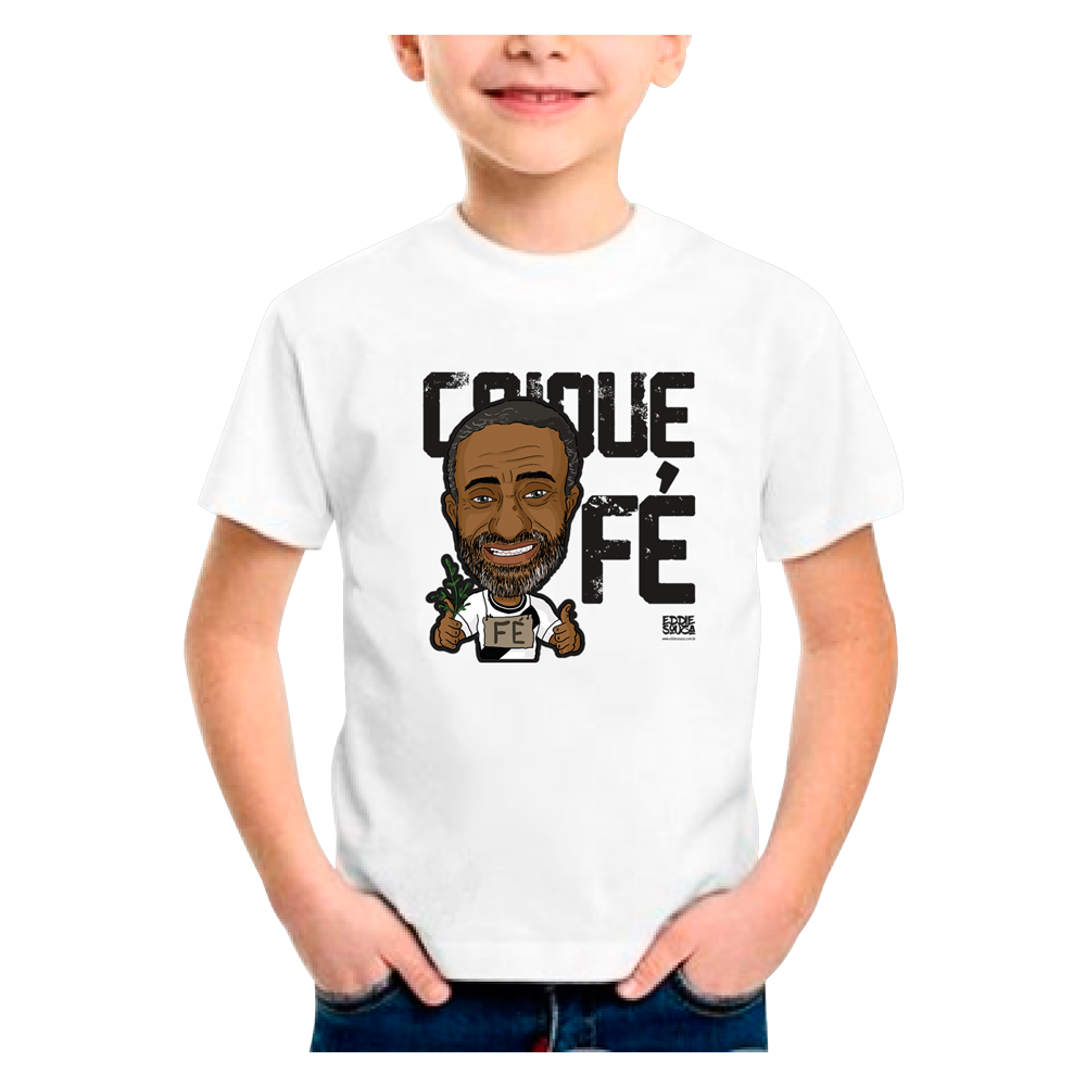 Camisa Vasco Infantil Caricatura CaiqueFé