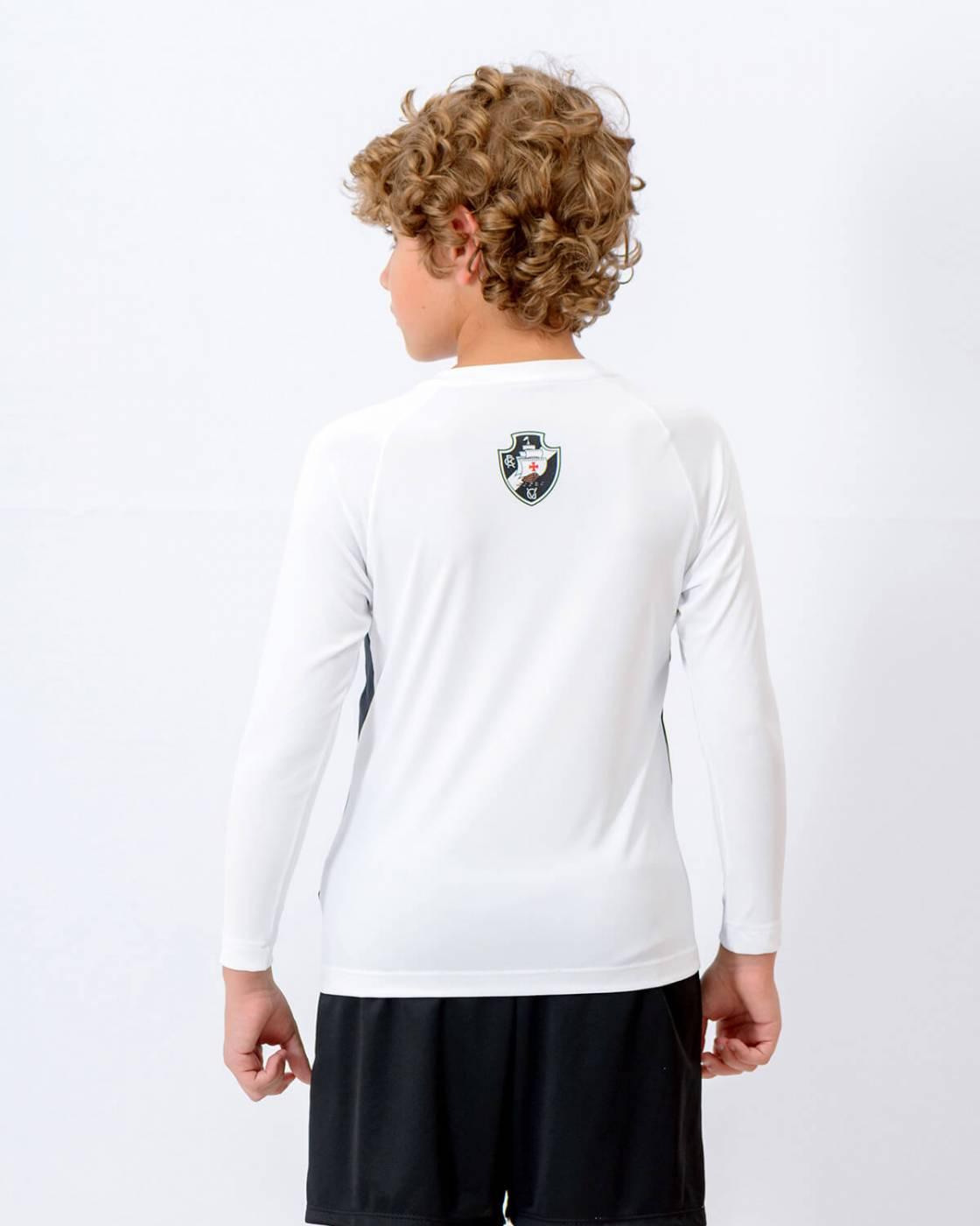 Camisa Vasco infantil  Rash Raglan manga longa