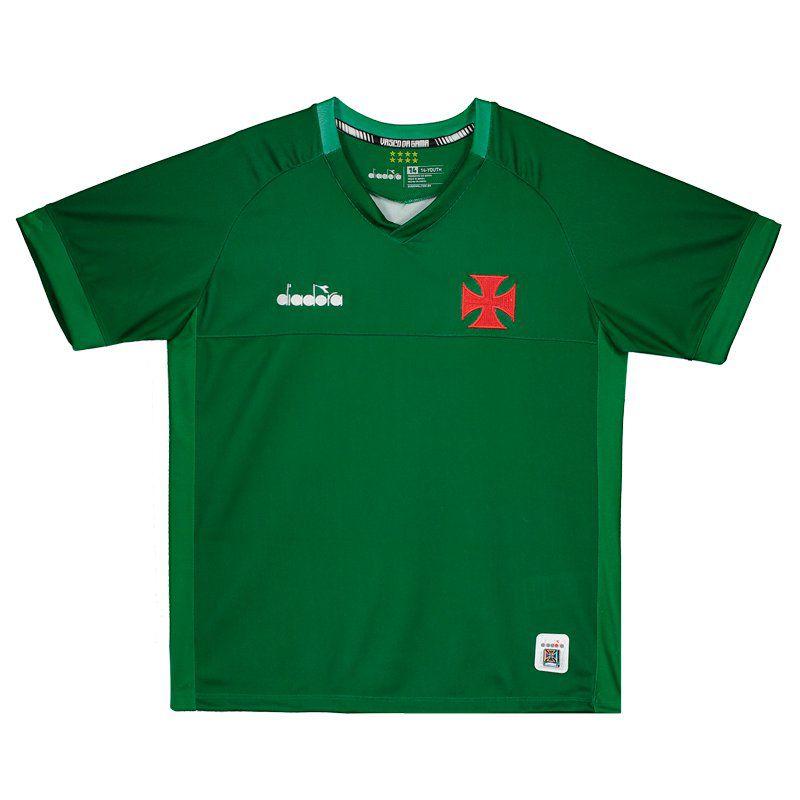 Camisa Vasco juvenil goleiro 1 torcedor 2019 Diadora - Verde