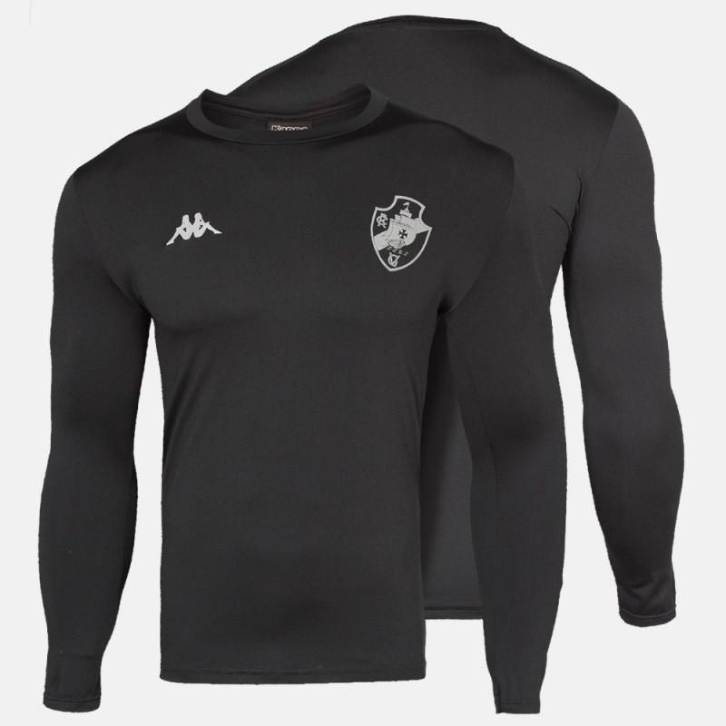 Camisa  Vasco M/L Térmica Preta - Kappa 2020