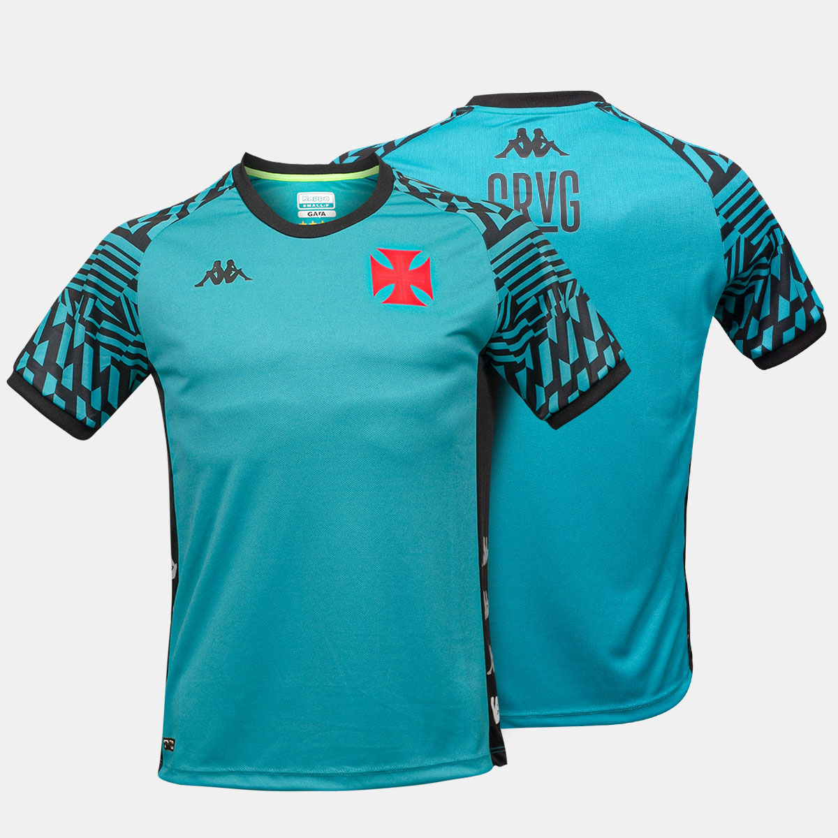 Camisa Vasco Mascuina Treino Atleta Tamanho Especial Kappa 2021