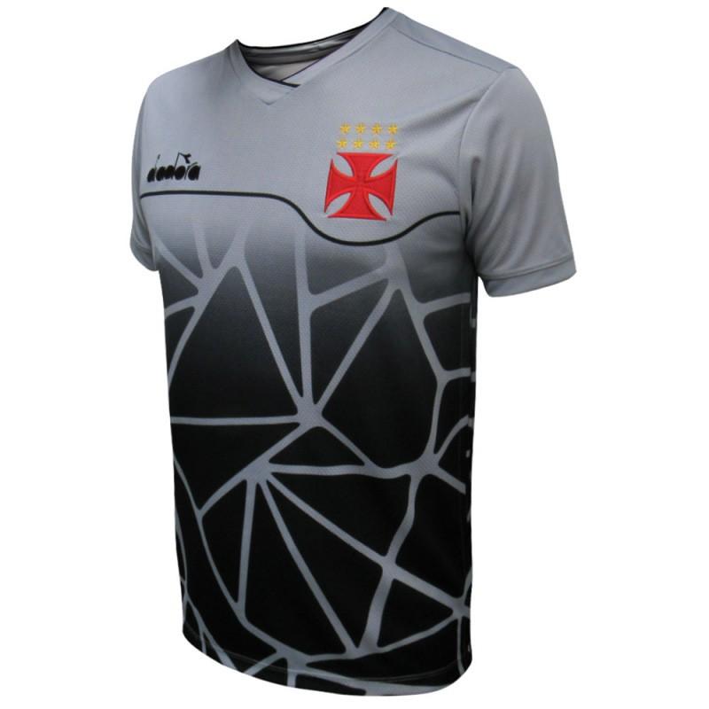 Camisa Vasco treino juvenil 2018 Diadora - Prata