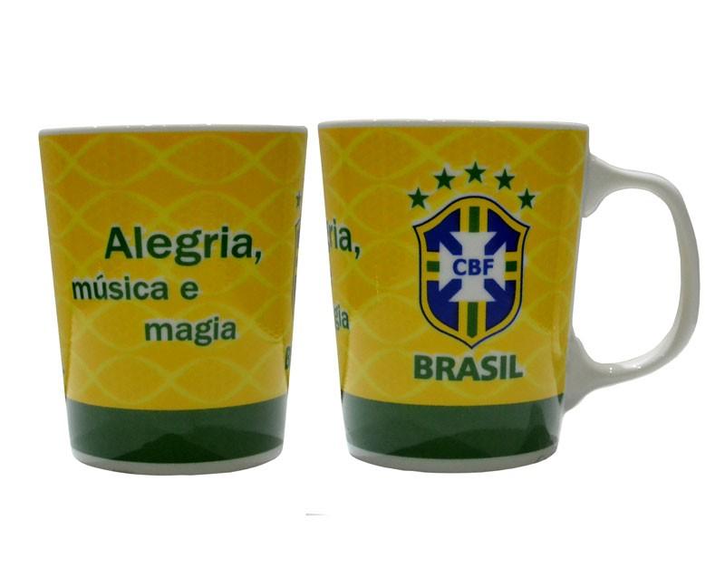 Caneca Brasil de porcelana