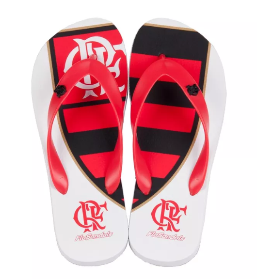 Chinelo Flamengo escudeto clássico metal