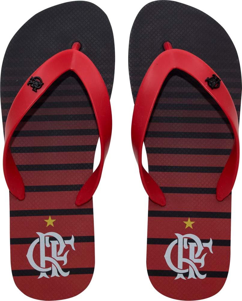Chinelo Flamengo infantil manto 3 listrado
