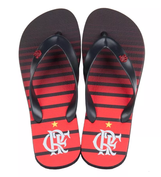 Chinelo Flamengo manto 3 listrado metal