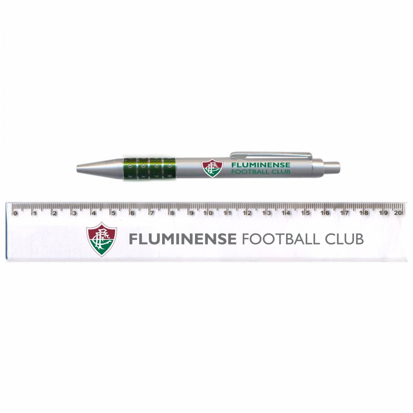 Conjunto Caneta e Régua Fluminense