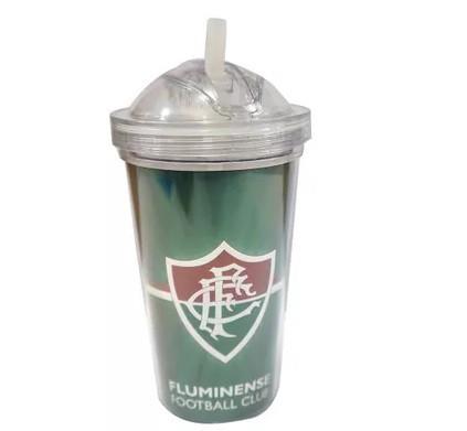Copo Fluminense tampa bico silicone 600 ml