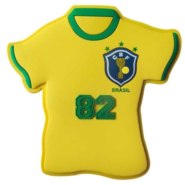 Ímã de geladeira camisa retrô Seleção 1 Brasil