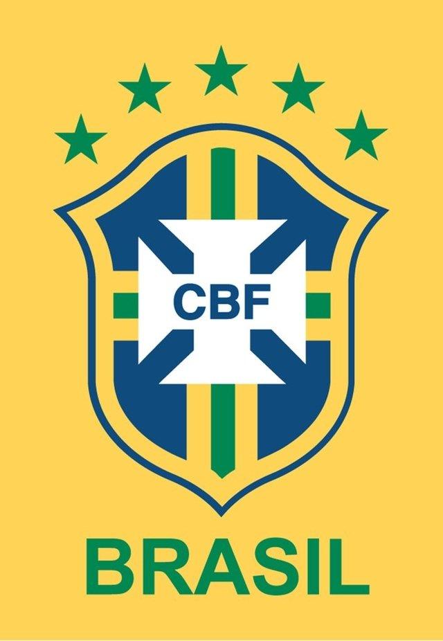Ímã de geladeira logo da CBF Brasil - Amarelo