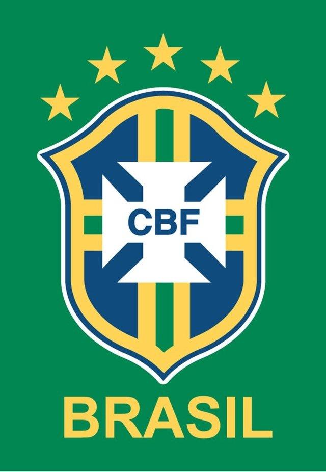 Ímã de geladeira logo da CBF Brasil - Verde