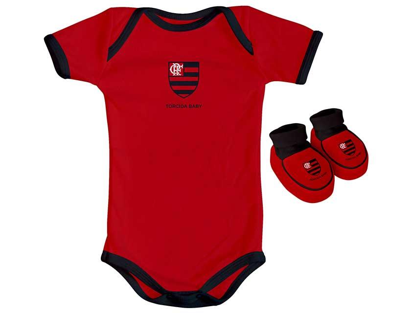 Kit 2 peças body color Flamengo