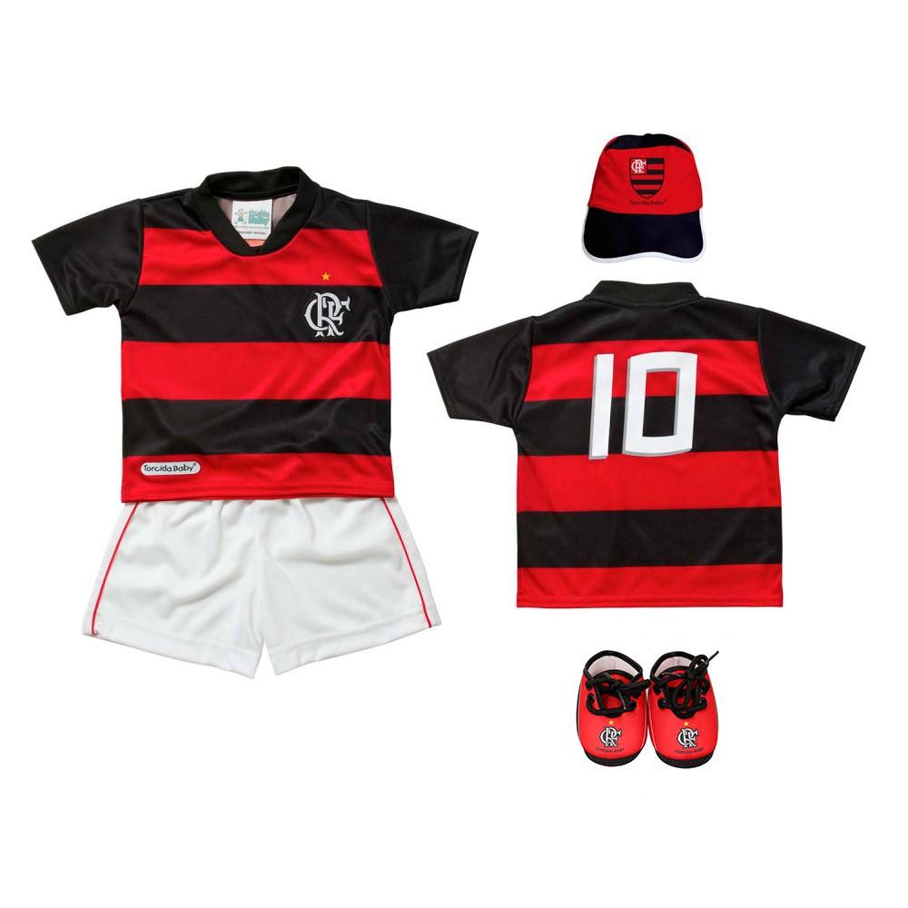 Kit 4 peças sublimado Flamengo