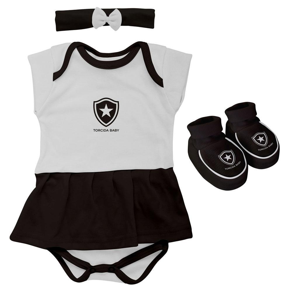 Kit Body menina 3 peças Botafogo