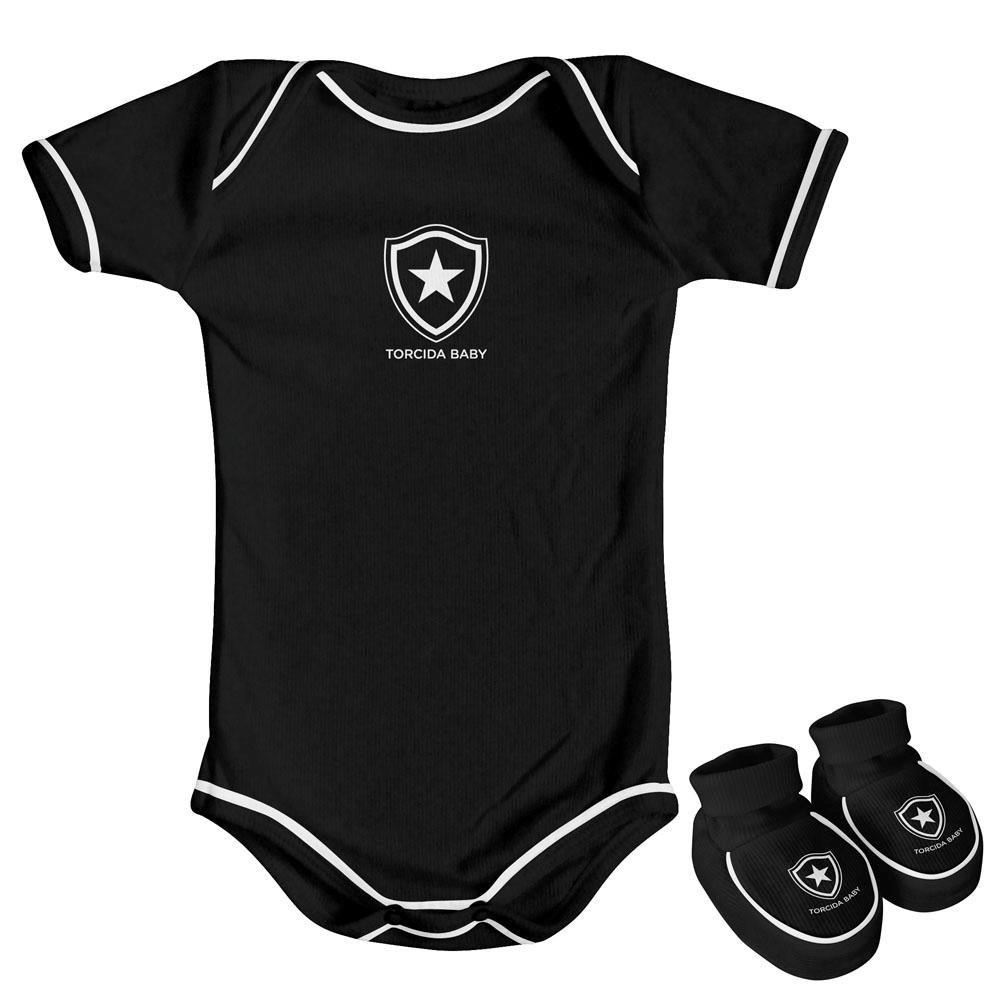 Kit Body preto 2 peças Botafogo