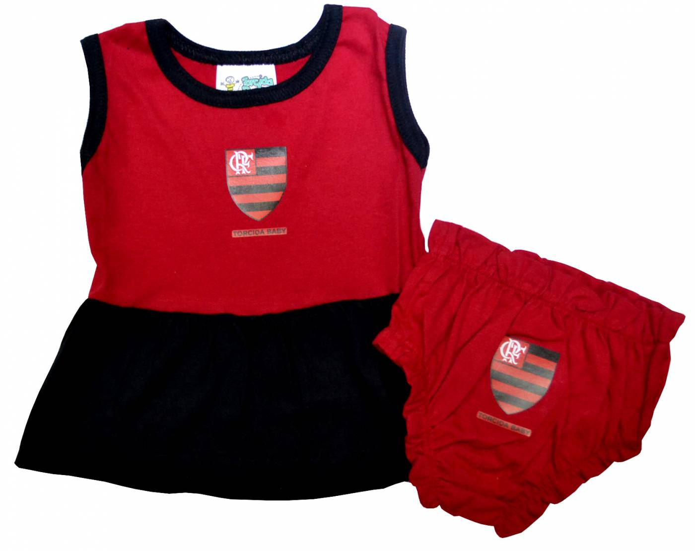Kit Flamengo 2 peças menina