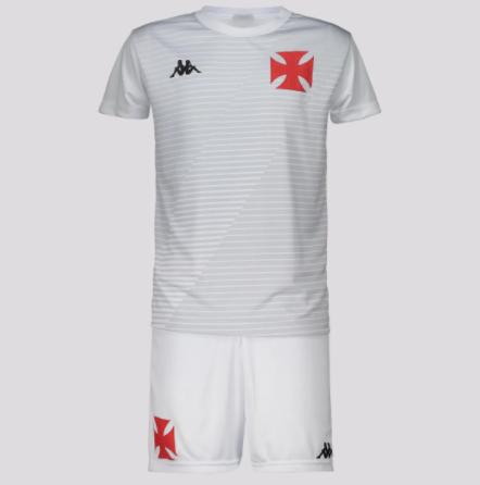 Kit Juvenil Vasco Supporter Branco - Kappa 20