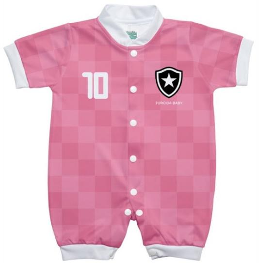 Macacão Botafogo estilo 2 rosa