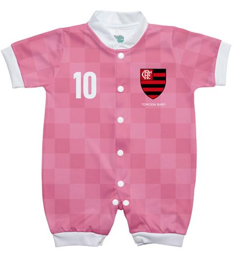 Macacão Flamengo estilo 2 rosa