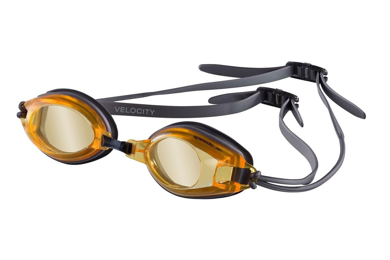 Óculos de natação Velocity Speedo - Prata/Laranja