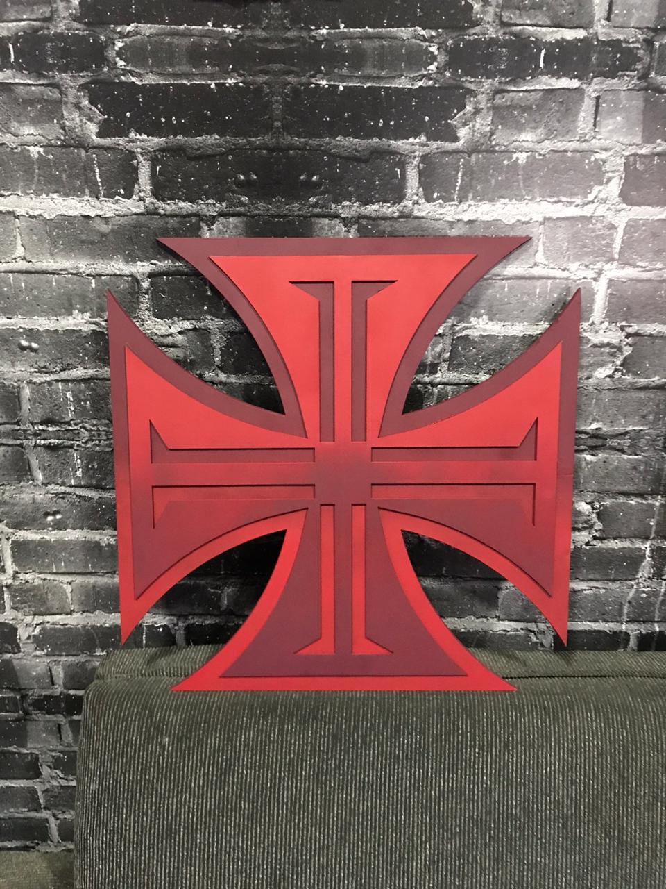 Placa Vasco MDF Cruz De Malta