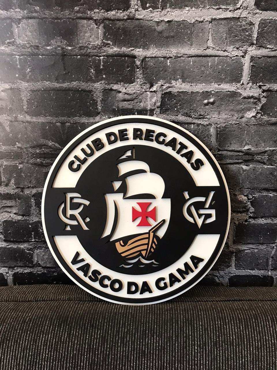Placa Vasco MDF Escudo