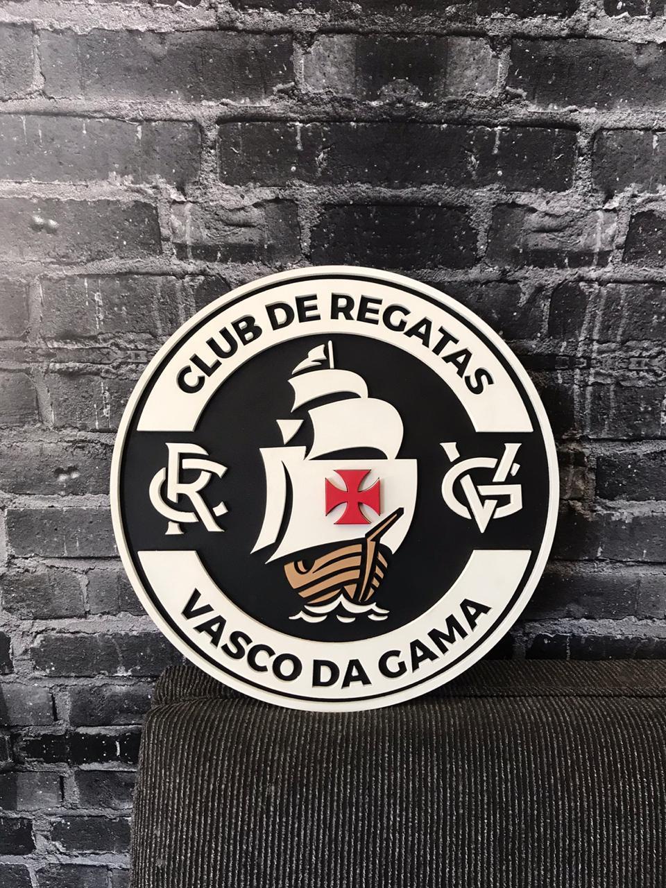 Placa Vasco MDF Escudo II Vazado