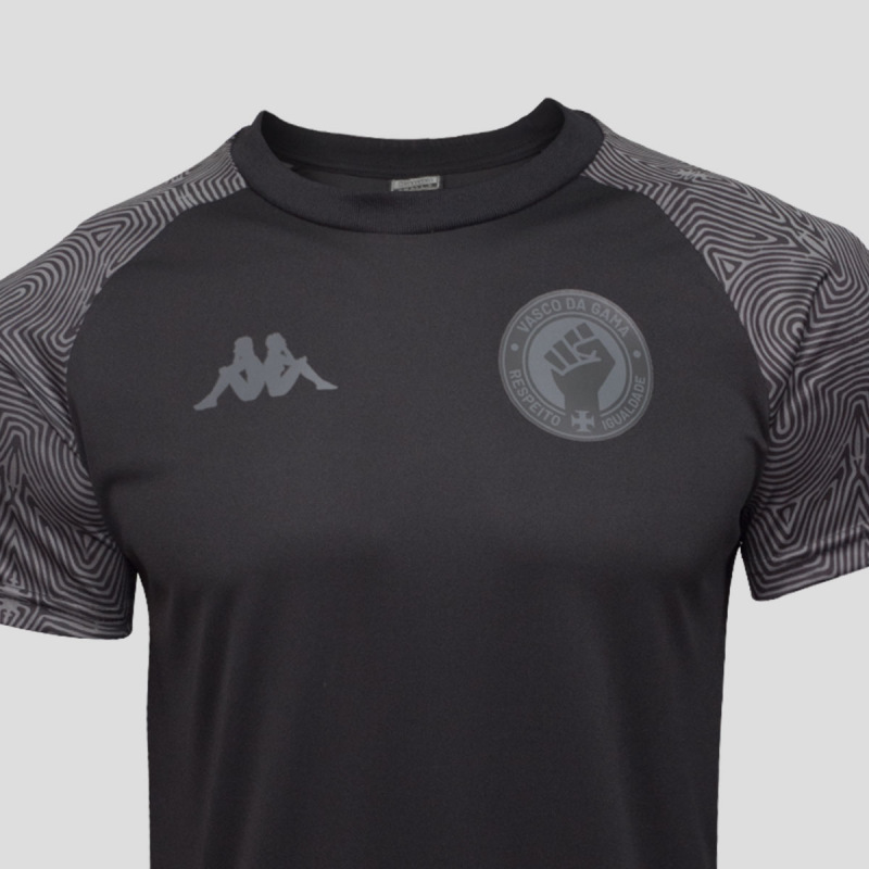 Camisa All Black Juvenil Vasco da Gama - Respeito e Igualdade