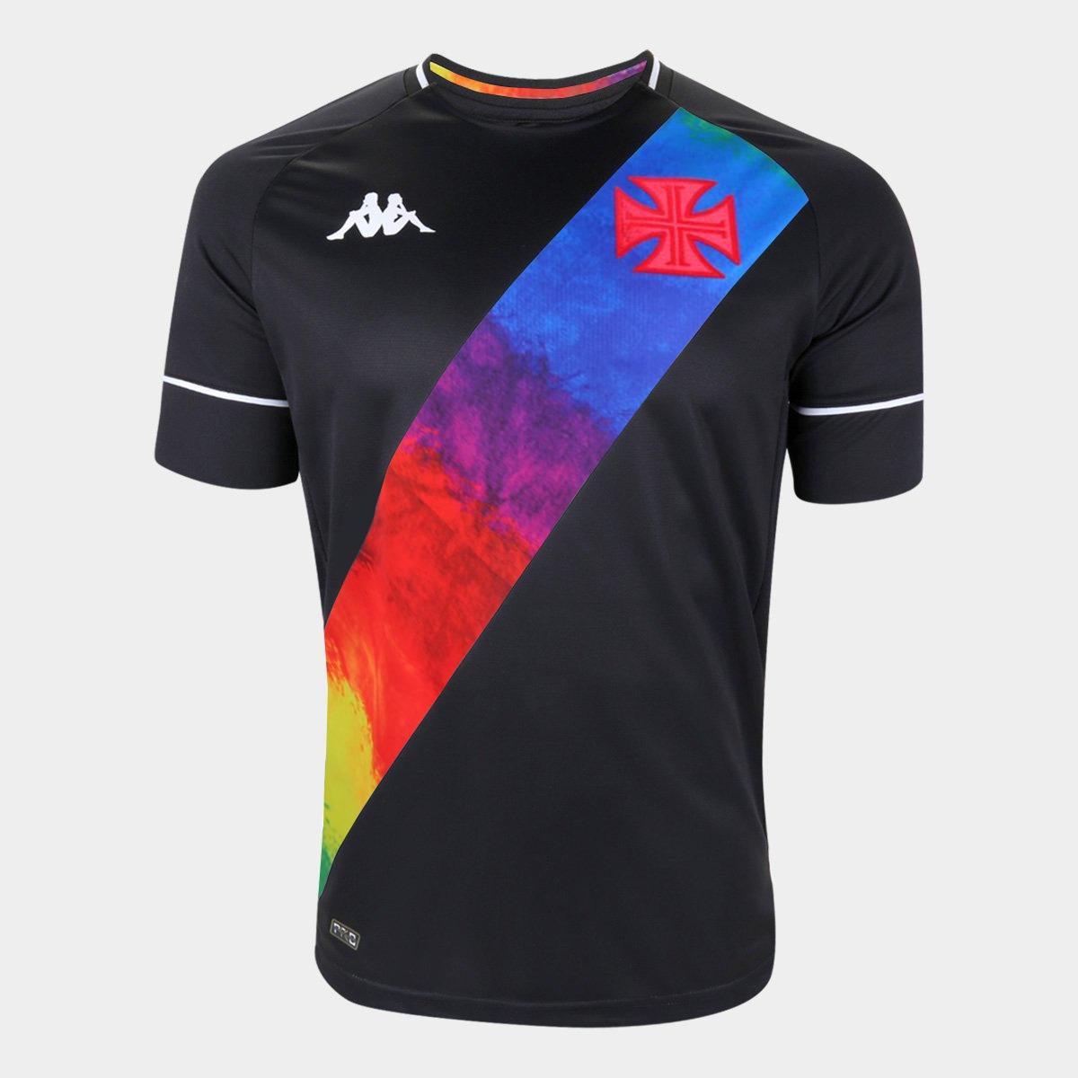 PRÉ-VENDA - Camisa Orgulho LGBTQIA+ Preta - Kappa