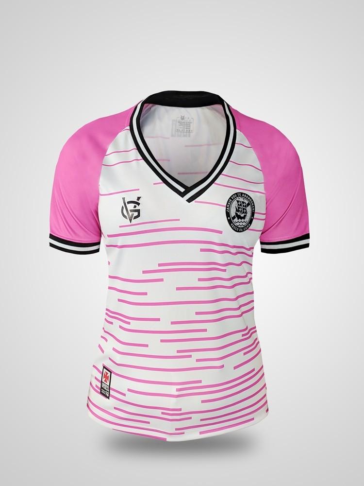 Camisa Vasco Feminina Grafismo Outubro Rosa
