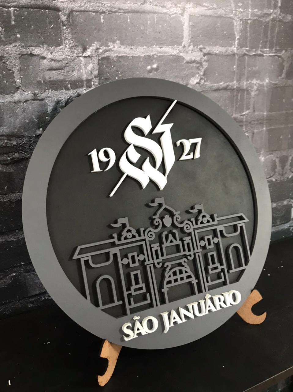 PRÉ-VENDA - Placa Vasco MDF São Januário