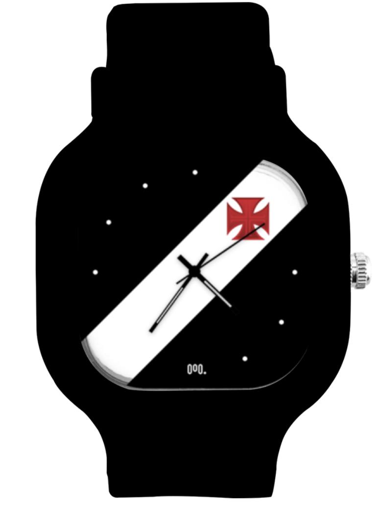 Relógio Classic Vasco White - Black