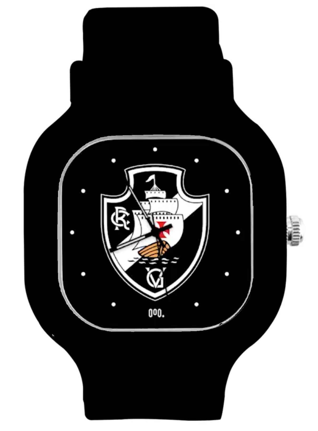 Relógio Vasco Escudo + Pulseira Silicone Power