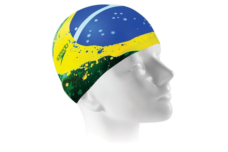 Touca de natação Brasil Flag Cap Speedo - Verde