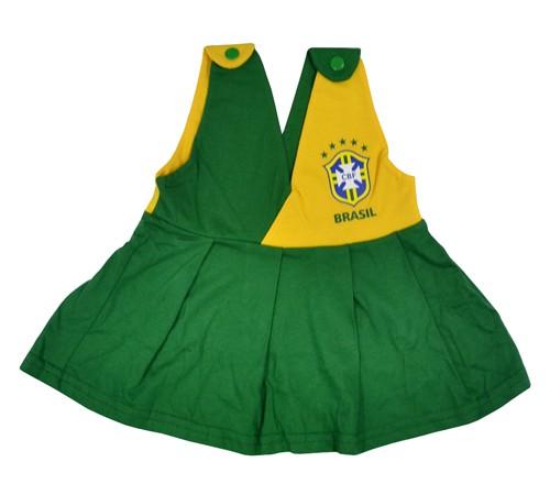 Vestido Brasil bebê
