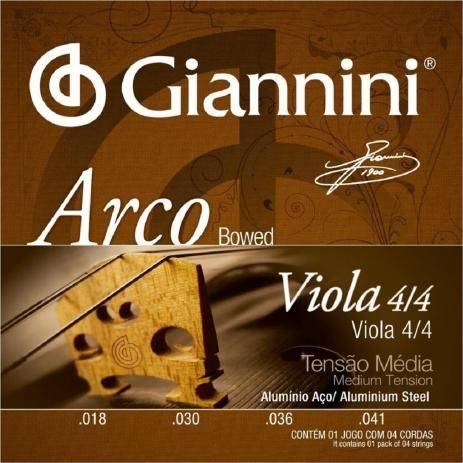 Encordoamento para Viola Giannini
