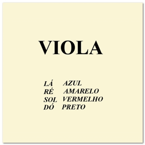 Encordoamento para Viola  Mauro Calixto
