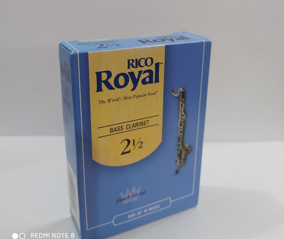 Palheta para Clarinete Bass Rico Royal