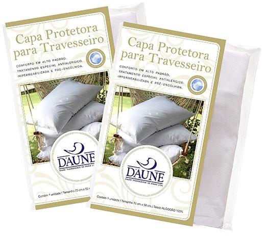 Capa Protetora para Travesseiro 100% Algodão