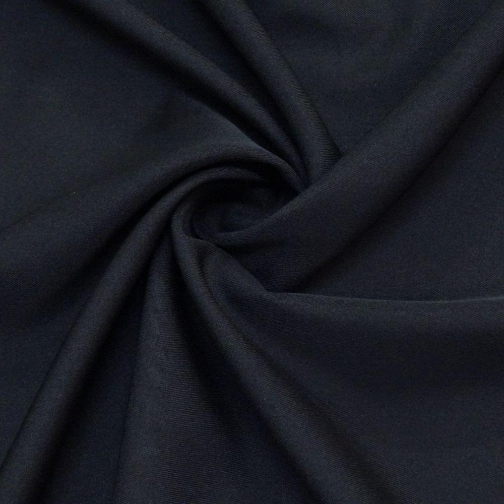 Tecido Gabardine Bi Elastic Preto - 1,50m de Largura