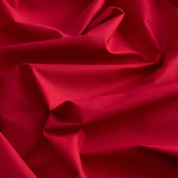 Tecido Tricoline Bahamas Vermelho - 1,50m de Largura