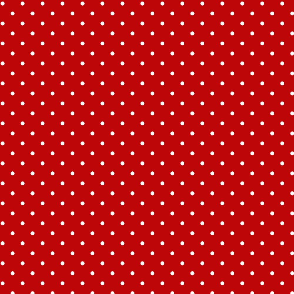 Tecido Tricoline Estampado  Madri Vermelho Bolas Pequenas - 1,50 m de Largura